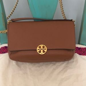 Tory Burch Chelsea Chain Leather Shoulder Bag